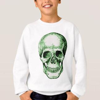 Grünes menschliches Schädelgesicht Sweatshirt