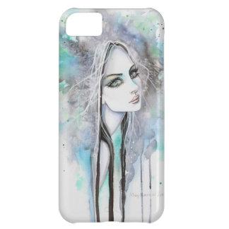 Grünes mit Augen Geist-gotisches Mädchen-abstrakte iPhone 5C Hülle