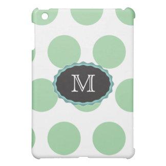 grünes Monogramm-Tupfen iPad Mini iPad Mini Hülle