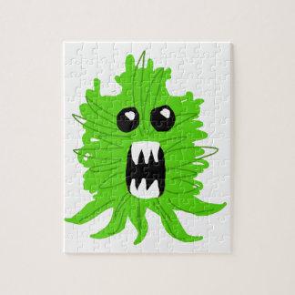 Grünes Monster-Baby-Kleid Puzzle