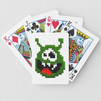 Grünes Monster - Pixel-Kunst Bicycle Spielkarten