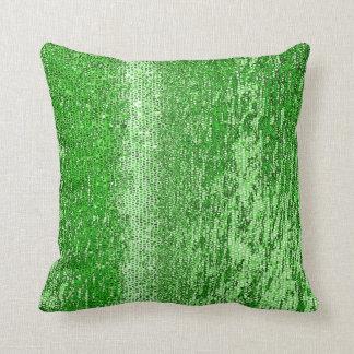 Grünes Mosaikmuster Kissen