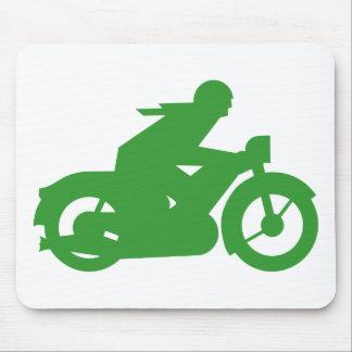 Grünes Motorbiker Zeichen Mauspads