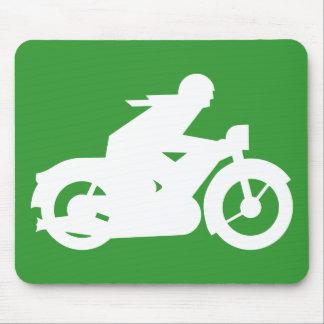 Grünes Motorbiker Zeichen Mousepad