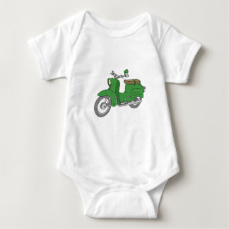 """Grünes Motorscooter """"Schwalbe """" Baby Strampler"""