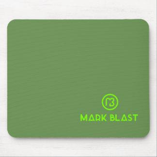 Grünes Mousepad klassisches Logo