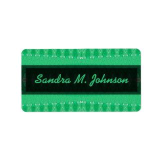 grünes Muster Adressaufkleber