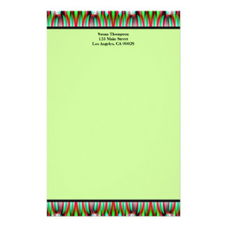 grünes Muster Druckpapiere