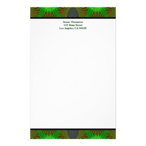 grünes Muster Individuelle Druckpapiere