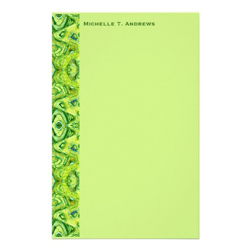 grünes Muster Bedrucktes Büropapier