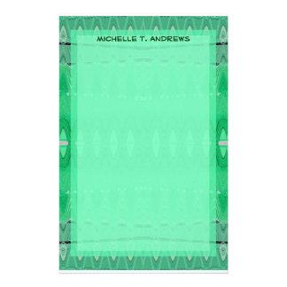 grünes Muster Personalisierte Büropapiere