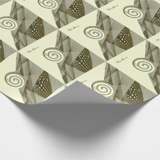 Grünes Muster mit Strudel Geschenkpapier