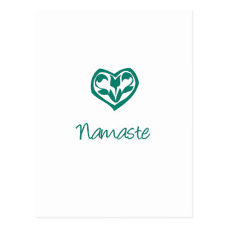 Grünes Namaste Postkarten