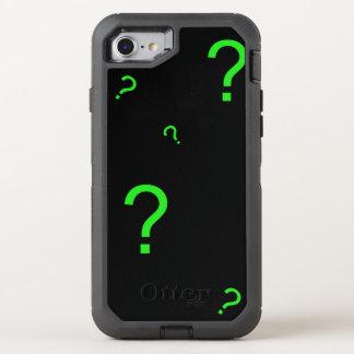 Grünes Neonfragezeichen OtterBox Defender iPhone 8/7 Hülle