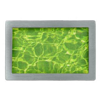 Grünes Neonwasser kopiert Hintergrund-leeres Rechteckige Gürtelschnallen