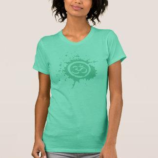 Grünes OM Bio Planeten-Shirts T-Shirt