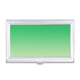 Grünes Ombre Visitenkarten-Schatulle