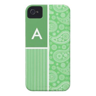 Grünes Paisley iPhone 4 Hülle