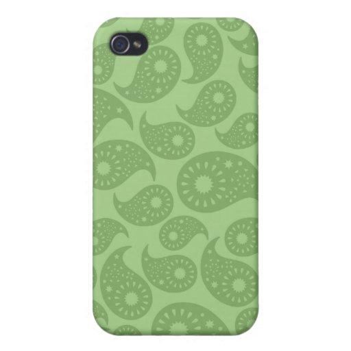 Grünes Paisley iPhone 4 Schutzhüllen