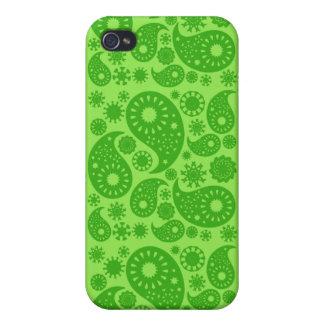 Grünes Paisley iPhone 4 Etuis