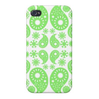 Grünes Paisley iPhone 4 Etui