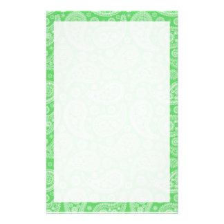 Grünes Paisley-Muster Bedrucktes Büropapier