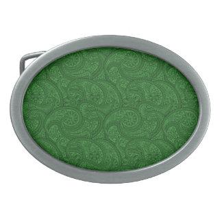 Grünes Paisley Ovale Gürtelschnalle