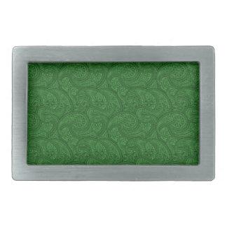 Grünes Paisley Rechteckige Gürtelschnalle