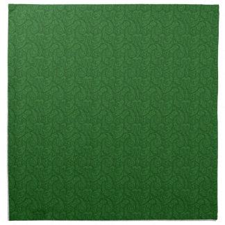 Grünes Paisley Stoffserviette