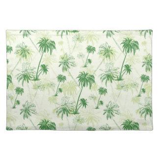 Grünes Palme-Muster Stofftischset