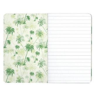 Grünes Palme-Muster Taschennotizbuch