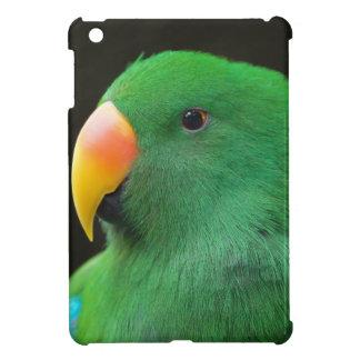 Grünes Papageien-Profil iPad Mini Hülle