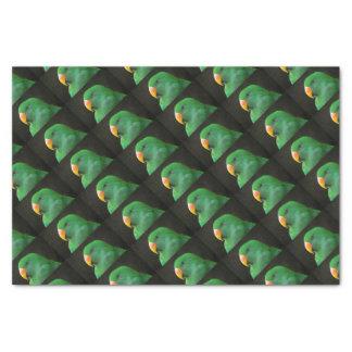 Grünes Papageien-Profil Seidenpapier