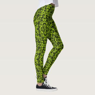 Grünes Partikelmuster Leggings