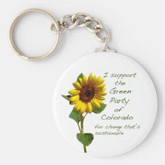 Grünes Party Colorados keychain Standard Runder Schlüsselanhänger