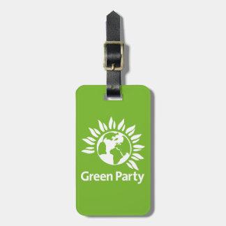 Grünes Party von England und von Wales Gepäckanhänger
