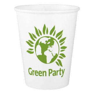Grünes Party von England und von Wales Pappbecher