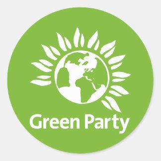 Grünes Party von England und von Wales Runder Aufkleber