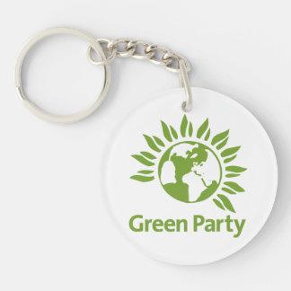 Grünes Party von England und von Wales Schlüsselanhänger