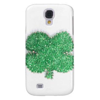Grünes Perlen-Kleeblatt Galaxy S4 Hülle