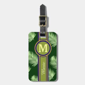 grünes personalisiertes Reiseeinzelteil Gepäck Anhänger