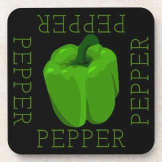 Grünes Pfeffer-Quadrat Untersetzer