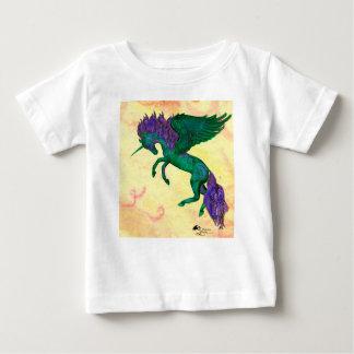 Grünes Pferdepony-Einhorn Pegasus Pegacorn Baby T-shirt