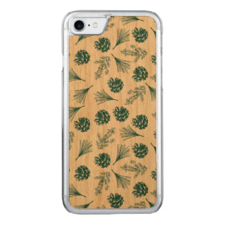 Grünes Pinecones und Nadeln kopieren iPhone 7 Fall Carved iPhone 8/7 Hülle