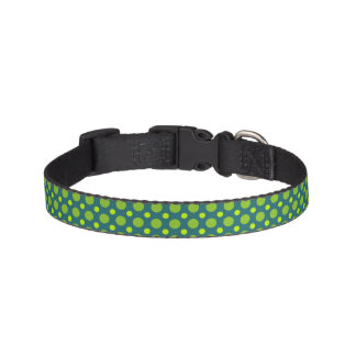Grünes Polka-Punkt-Hundehalsband Haustierhalsbänder