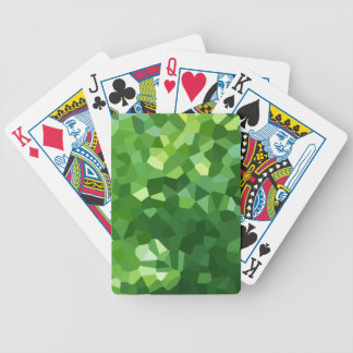 Grünes Polygon-Form-beflecktes Glas-Mosaik Bicycle Spielkarten