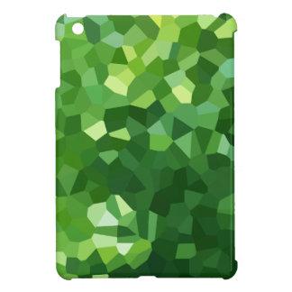 Grünes Polygon-Form-beflecktes Glas-Mosaik iPad Mini Hülle