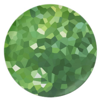 Grünes Polygon-Form-beflecktes Glas-Mosaik Melaminteller