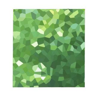 Grünes Polygon-Form-beflecktes Glas-Mosaik Notizblock