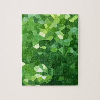 Grünes Polygon-Form-beflecktes Glas-Mosaik Puzzle